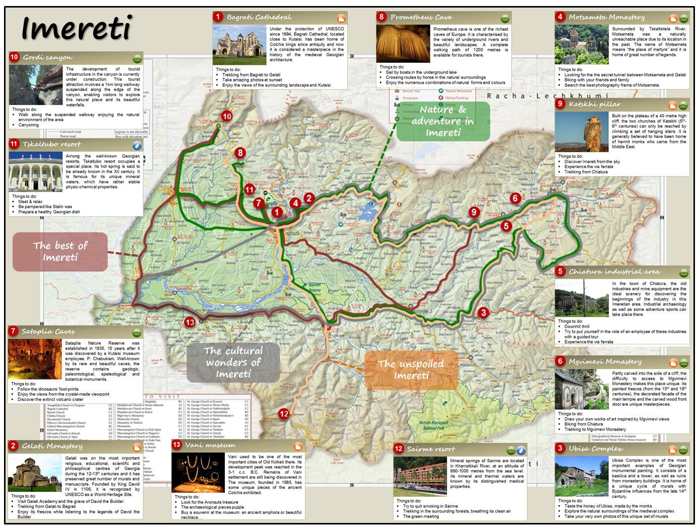 Tourism Development And Marketing Plan For The Imereti Region - Mapa de georgia